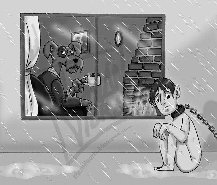 ilustraciones satiricas sobre animales en lugar de personas 3