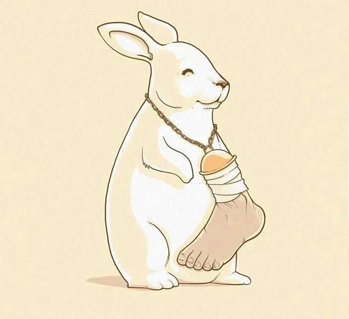 ilustraciones satiricas sobre animales en lugar de personas 9