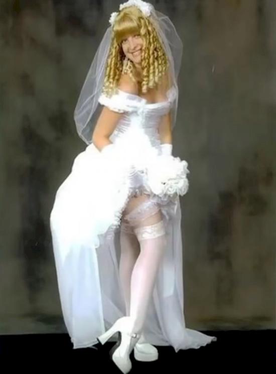 los vestidos de novia mas feo y ordinarios que se han visto jamas 5
