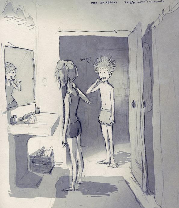Después de la ducha, pre-laca para el cabello. - Curtis Wiklund (17º de julio de del 2011)