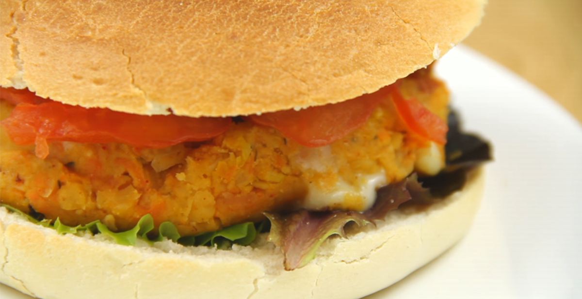 receta hamburguesa vegetal