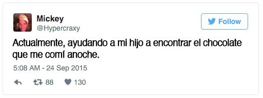 tweets sobre niños escritos por papa y mama 1