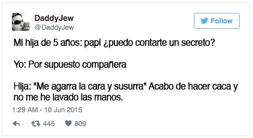 tweets sobre niños escritos por papa y mama 61