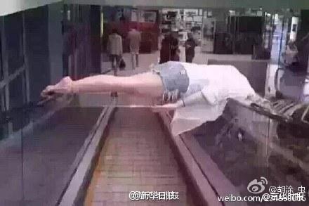 la peligrosidad de la escaleras mecanicas en China 5