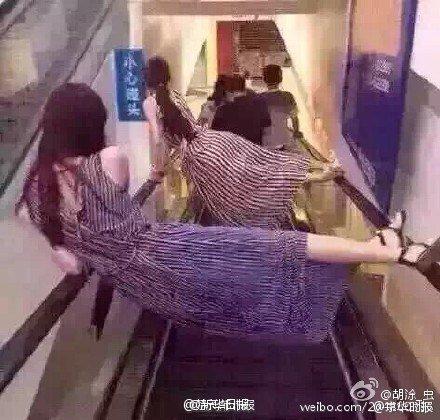 la peligrosidad de la escaleras mecanicas en China 6