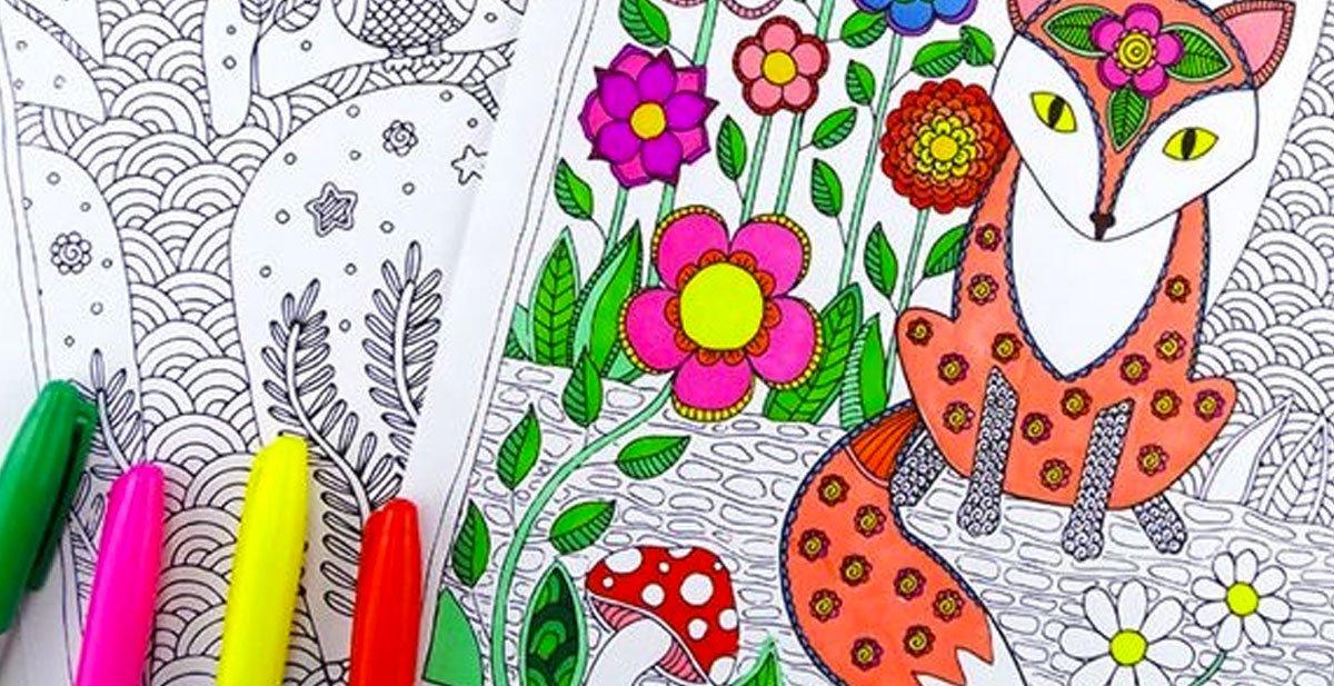 5 Lugares Para Descargar Libros De Colorear Para Adultos
