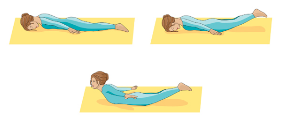 postura de yoga de la langosta