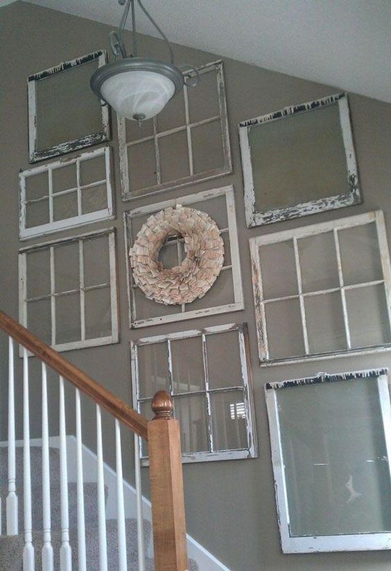 25 maneras de reutilizar llas puertas de ventanas viejas 5