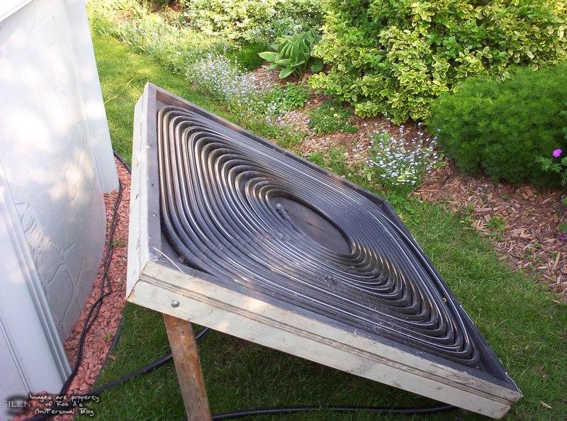 calentador solar para piscina con tubos de plastico