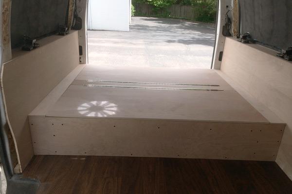 cama furgoneta de lujo