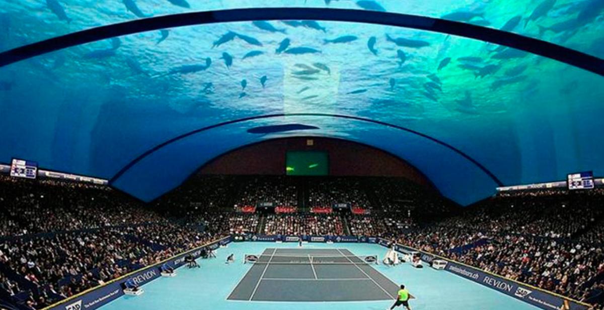 cancha de tenis submarina solo en dubai