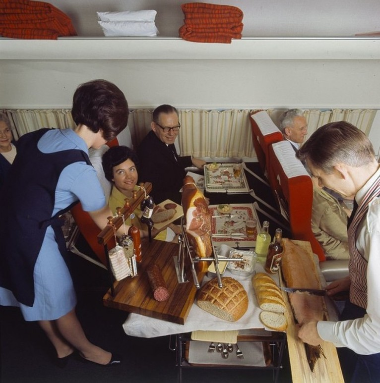 comida avion antes 1