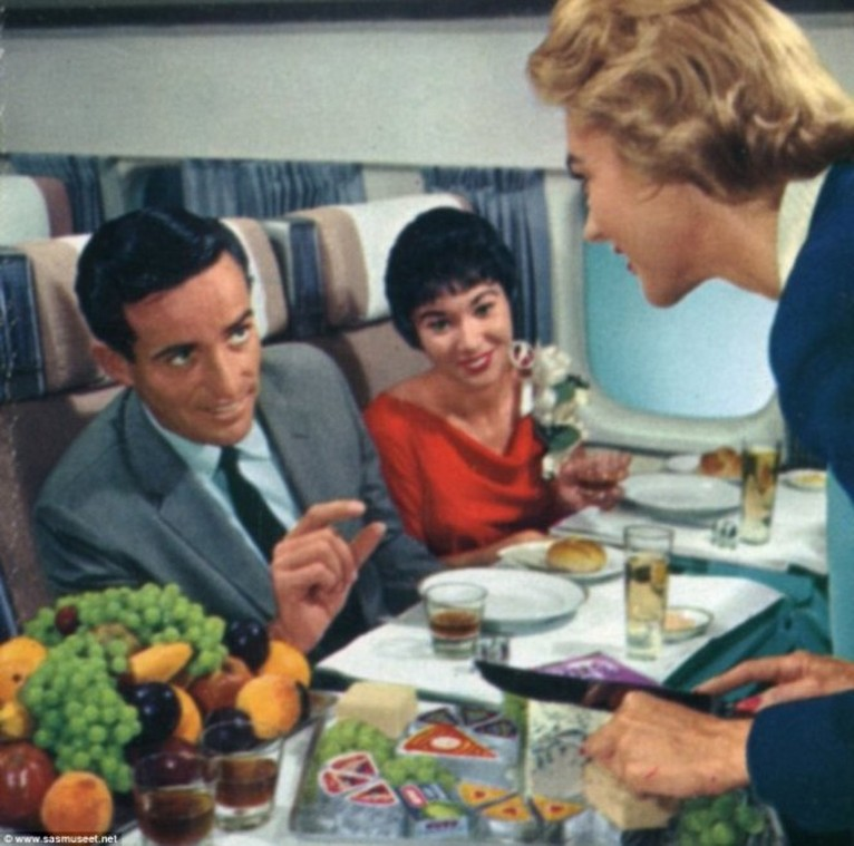 comida avion antes 11