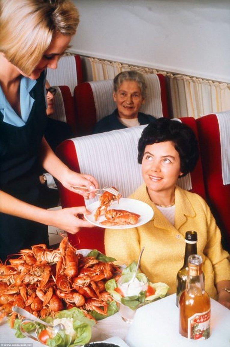 comida avion antes 7