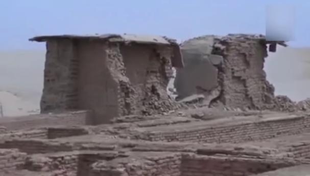 Estado en el que ha quedado el antiguo templo de Nabu, en Irak, tras la explosión perpetrada por el EI