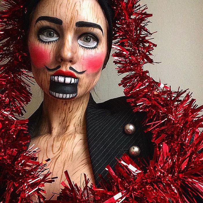 joven artista del maquillaje hace maravillas 10