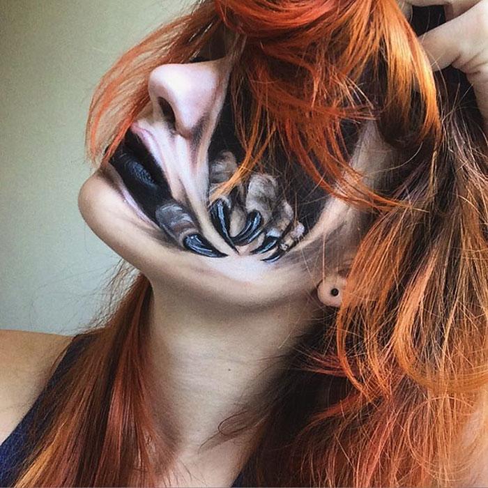joven artista del maquillaje hace maravillas 11