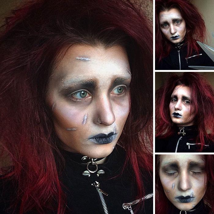 joven artista del maquillaje hace maravillas 13