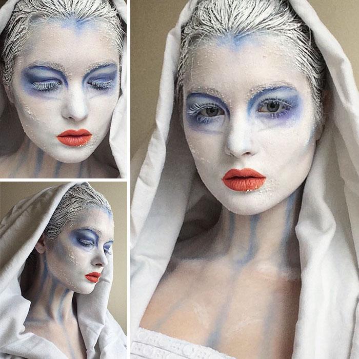 joven artista del maquillaje hace maravillas 14