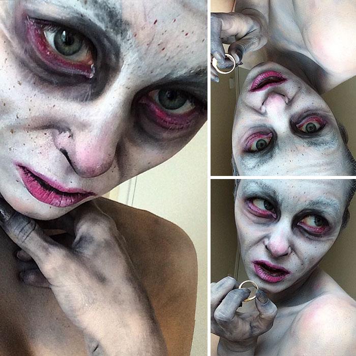 joven artista del maquillaje hace maravillas 15
