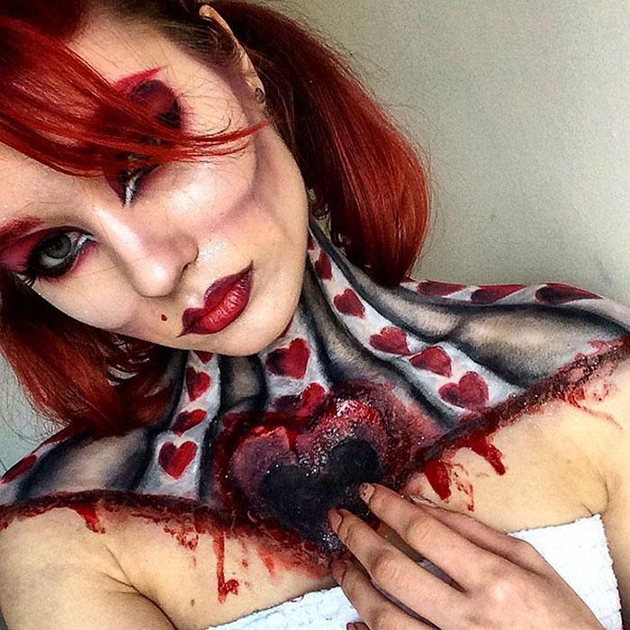 joven artista del maquillaje hace maravillas 20
