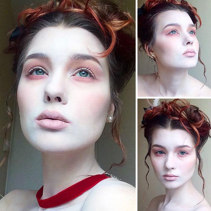 joven artista del maquillaje hace maravillas 21