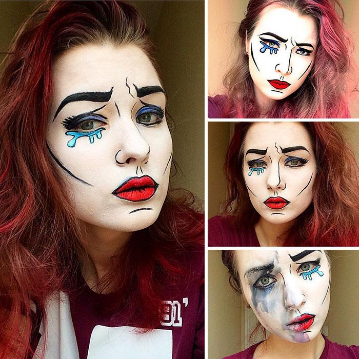joven artista del maquillaje hace maravillas 22