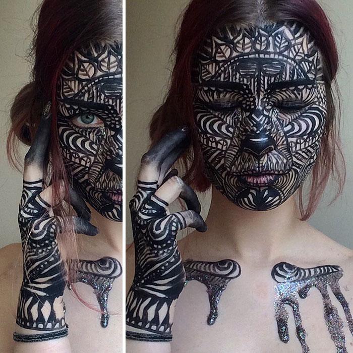 joven artista del maquillaje hace maravillas 23