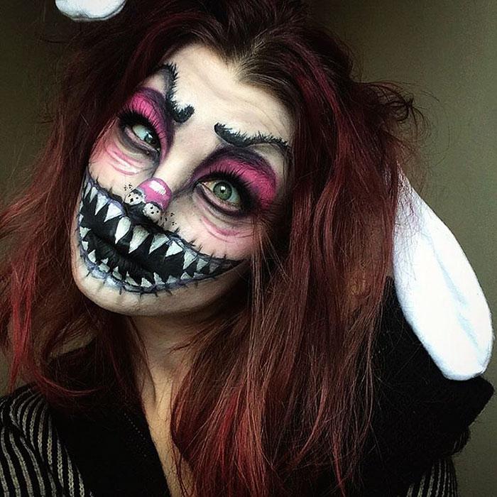 joven artista del maquillaje hace maravillas 27