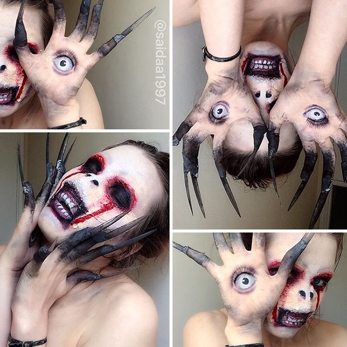 joven artista del maquillaje hace maravillas 3