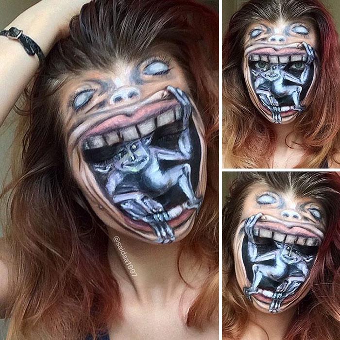 joven artista del maquillaje hace maravillas 4