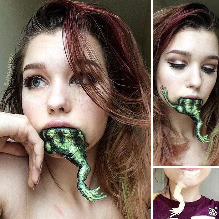joven artista del maquillaje hace maravillas 6