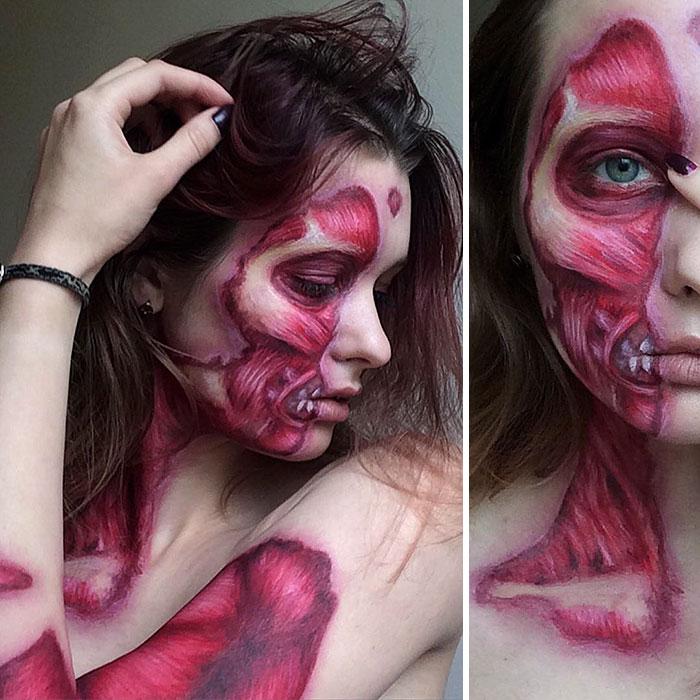 joven artista del maquillaje hace maravillas 7