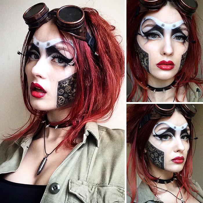 joven artista del maquillaje hace maravillas 9
