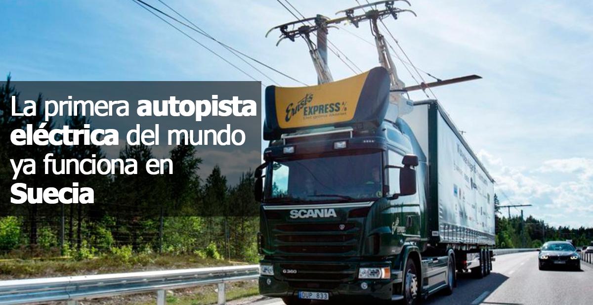 la primera autopista electrica del mundo ya funciona en suecia