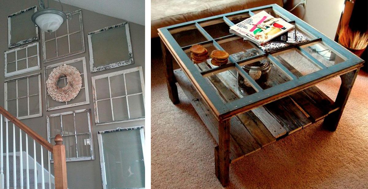 marcos y ventanas reciclados