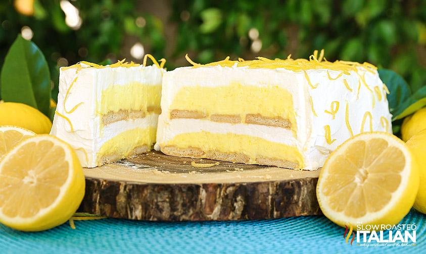 tarta fria de limon