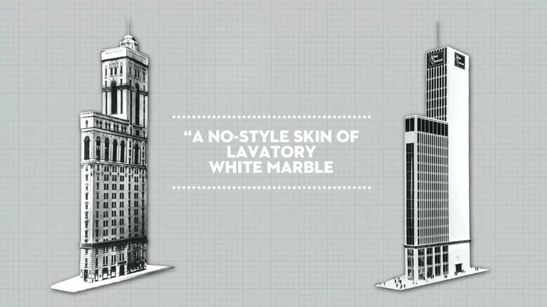 New Yorker-Reforma de la fachada para exponer las pantallas de publicidad