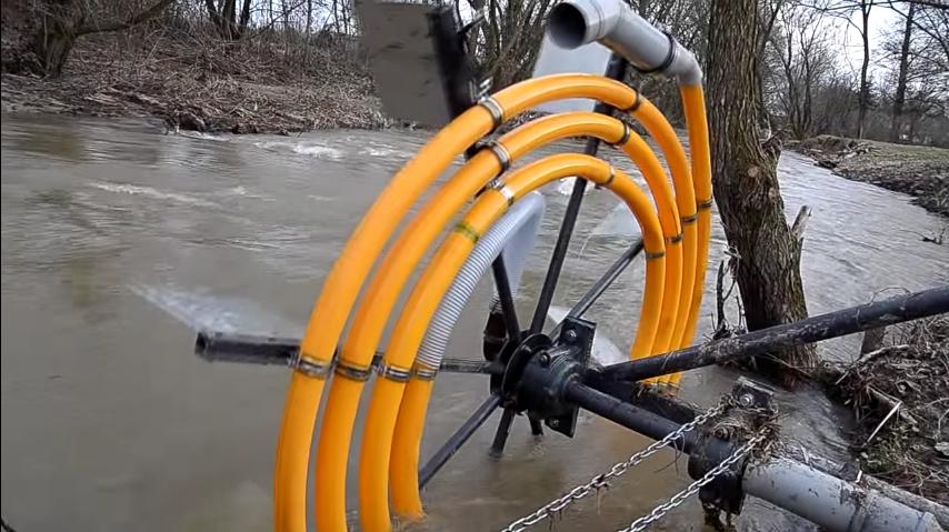 bomba de agua en espiral