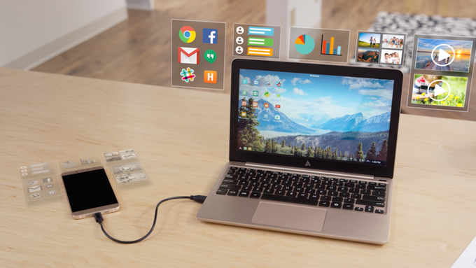 de smatphone a pc con superbook 1