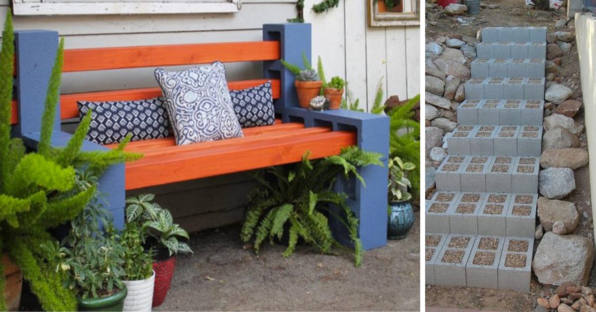 28 ideas geniales que solo requieren bloques de hormig n for Bloques cemento para jardin