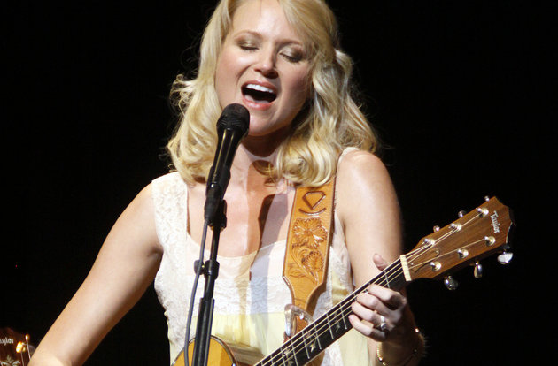 Singer songwriter Jewel, born Jewel Kilcher from Homer, Alaska, performs in her home state in Anchorage, Alaska Thursday Aug. 20, 2009. (AP Photo/Al Grillo)