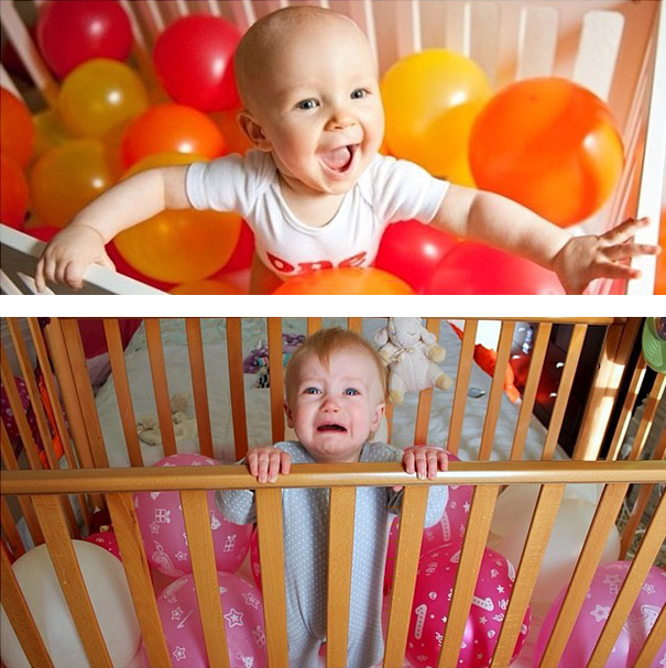 imagenes de bebes expectativas vs realidad 10