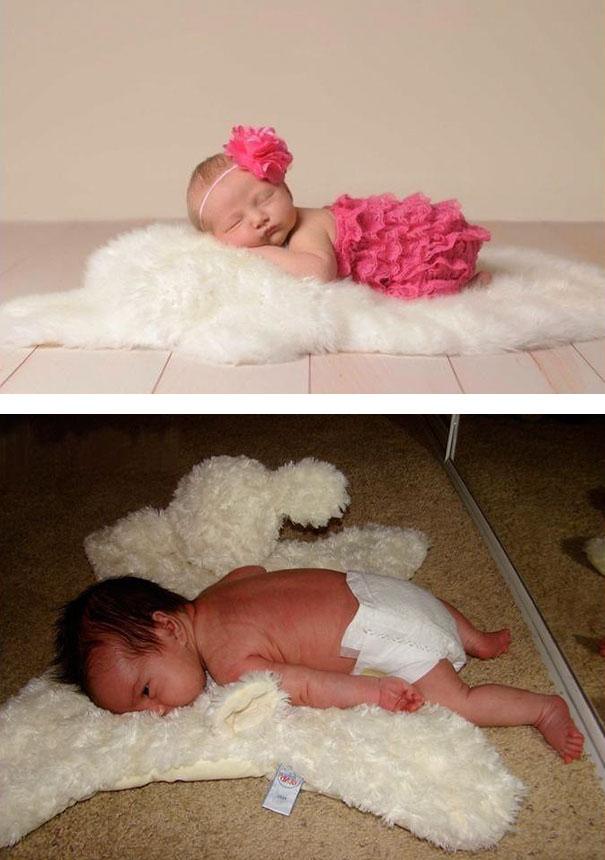 imagenes de bebes expectativas vs realidad 6