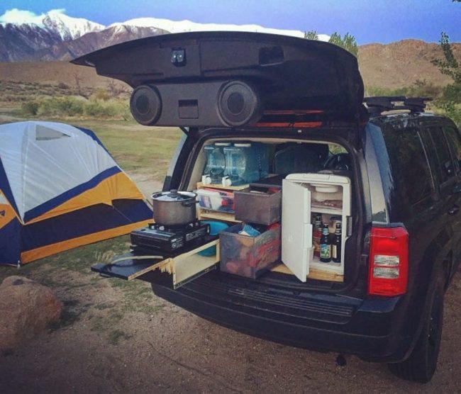 mueble de camping a medida para el coche 7