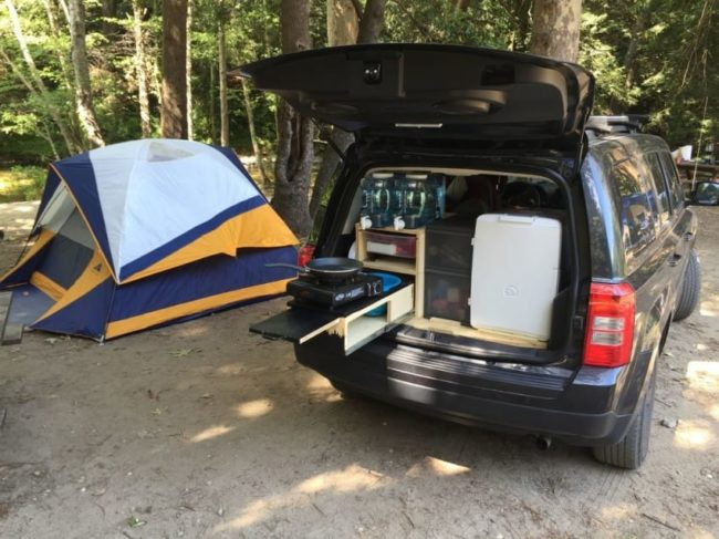mueble de camping a medida para el coche 8