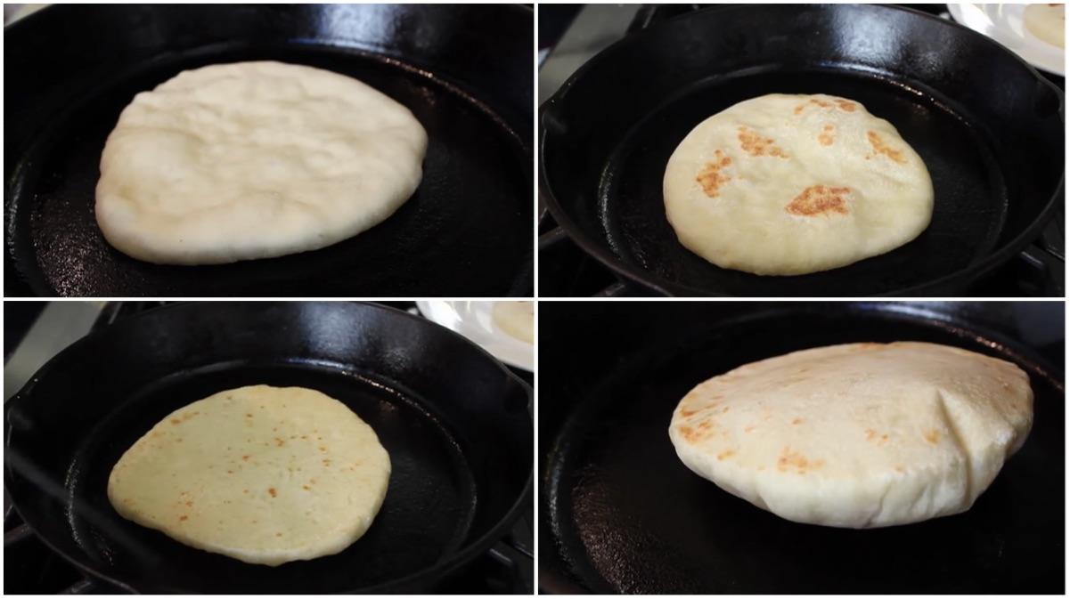 pan de pita casero 9