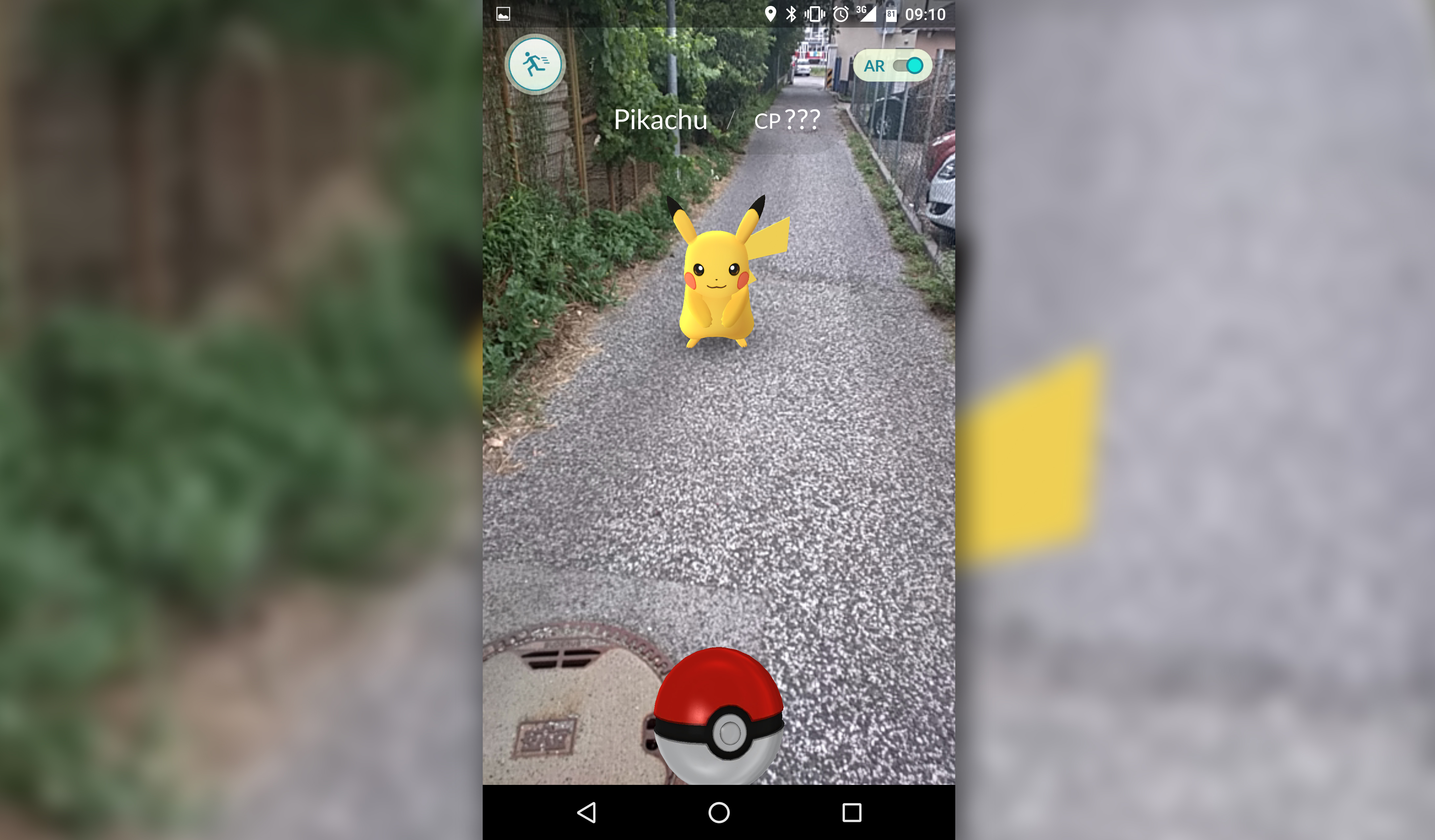 pikachu detrás de mi casa