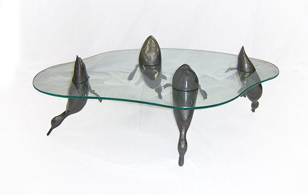 mesa animales en el agua 6