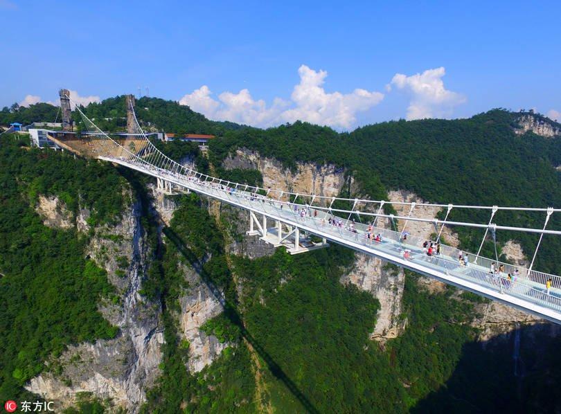 puente cristal Zhangjiajie